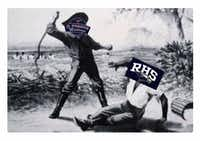 An image of a slave being whipped was turned into a meme days before J.J. Pearce High School played Richardson in football.