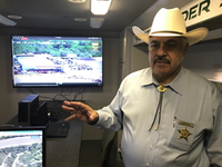 <p>Webb County Sheriff Martin Cuellar monitors activities along the border with the help of technology. (Alfredo Corchado/Staff)</p>(<p><br></p>)