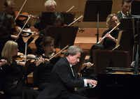 """Pianist Rudolf Buchbinder and the Dallas Symphony Orchestra perform Beethoven's Concerto No. 5 in E-flat major for piano and Orchestra, Op. 73, """"Emperor"""" on Sept. 28. (Rex C. Curry/Special Contributor)"""
