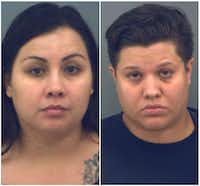 Ashley (left) and Brittany Brooks are being held in the El Paso Jail in lieu of $75,000 bail.(El Paso PD)
