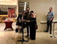 Author Michael Chabon meets with fans after his talk Monday at the Dallas Museum of Art.(Michael Merschel)