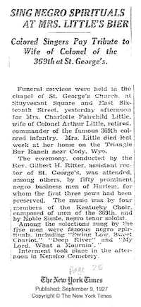 Clipping from The New York Times, September 9, 1927.(Robert Darden)