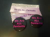 Photographer and film enthusiast Jessica Cargill made badge buttons and ribbons for patrons of Fantastic Fest who want to signal their interest in an inclusive and diverse festival.(Courtesy photo/Fantastic Fest)