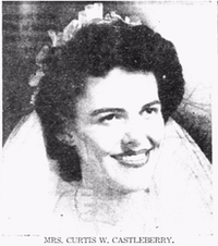 Vivian Castleberry's 1946 wedding announcement(DMN archives)