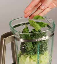The making of a kale, cucumber and mint smoothie(Andy Jacobsohn/Staff Photographer)