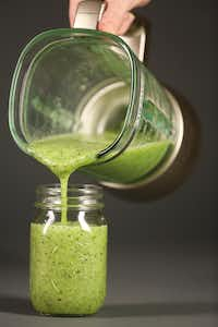 A zucchini, spinach and kiwi smoothie (Andy Jacobsohn/Staff Photographer)