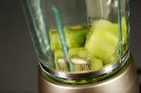 The making of a zucchini, spinach and kiwi smoothie(Andy Jacobsohn/Staff Photographer)