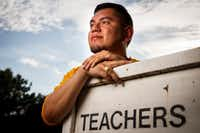 Luis Juarez-Trevino, a 5th grade teacher at Lipscomb Elementary School, is now lobbying Congress hard to pass legislation that would provide a citizenship pathway to immigrants such as himself who have Deferred Action for Childhood Arrivals.(Smiley N. Pool/Staff Photographer)