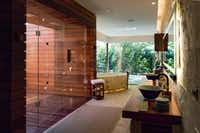 """<p>From stone soaking tubs to indoor-outdoor showers, casitas at Chabl<span style=""""font-size: 1em; background-color: transparent;"""">é</span><span style=""""font-size: 1em; background-color: transparent;"""">Resort offer every modern amenity. Rates start at $1,000 per night.</span></p>(Michael Hiller/Special Contributor)"""
