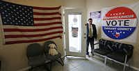 Lee Saldivar, at his office in Fort Worth, says there's been a spike in power-of-attorney requests since the November election.(Louis DeLuca/Staff Photographer)
