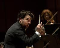James Gaffigan conducts the Dallas Symphony Orchestra  on Jan. 29, 2015.  (Nan Coulter/Special Contributor)