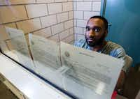 Carl Govan holds up arraignments on his case on Aug. 2 at the Dallas County Jail. Govan is accused of scamming several families in to buying homes that he didn't have the right to sell.(Ashley Landis/Staff Photographer)