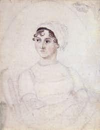 The National Portrait Gallery in London houses this portrait of Jane Austen — an 1810 watercolor-and-pencil sketch by her sister Cassandra. (National Portrait Gallery London)