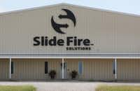 Slide Fire Solutions in Moran, Texas, makes bump stocks, after-market attachments that increase the rate of fire from semiautomatic rifles. (Louis DeLuca/Staff Photographer)