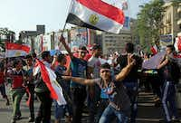 Supporters of Egyptian President Abdel-Fattah el-Sissi celebrated his inauguration in Tahrir Square in Cairo in June 2014. Egypt was apparently the first stop of the Ali brothers before they went to fight for ISIS in Syria.(File Photo/The Associated Press)
