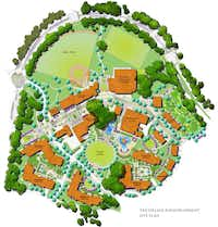 Plans for The Village redevelopment show more than a dozen new buildings.(The Village)