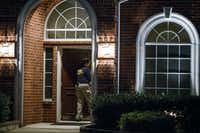 Members of an FBI evidence response team enter the family home of missing 3-year-old Sherin Mathews on Tuesday in the 9000 of block Sunningdale in Richardson.(Smiley N. Pool/Staff Photographer)
