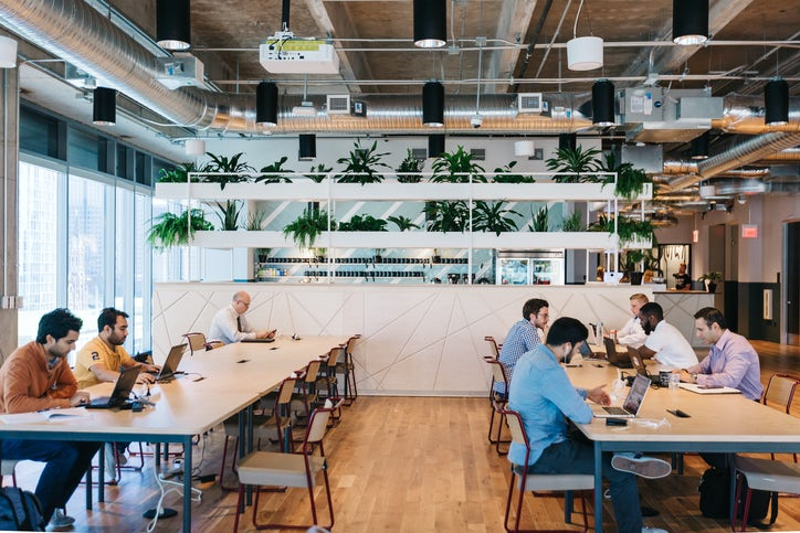 Wework S Mckinney Avenue Location In Dallas Uptown District Has Offices On Two Floors