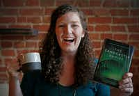 Kayla Olson, author of <i>The Sandcastle Empire, </i>enjoys spending time at the West Oak Coffee Bar in Denton.(Jae S. Lee/Staff Photographer)