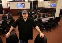 """<p></p><p>""""I'm trying to bring poker from the shadows to the light,"""" says<span style=""""font-size: 1em; background-color: transparent;"""">Jody Wheeler, who opened FTN Poker a month ago in McKinney.</span></p><p></p>(Vernon Bryant/Staff Photographer)"""