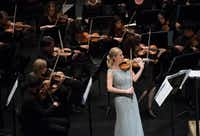 Violinist Angela Fuller Heyde performed Saturday with the Dallas Symphony Orchestra at Moody Performance Hall.(Rex C Curry/Special Contributor)