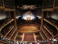 The Meyerson Symphony Center in Dallas, with the Lay Family Concert Organ, at a recital on Sunday. (<p>Scott Cantrell</p>/<p>Special Contributor<br></p><p><br></p>)