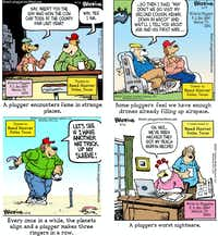 Just a few of the hundreds of <i>Pluggers </i>cartoons submitted by Reed Hoover of Dallas(Brookins Art/Brookins Art<br>)