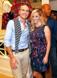 Gray Malin with Reese Witherspoon at the grand opening for Witherspoon's Draper James store in Highland Park Village. (Tom Fox/Staff Photographer)