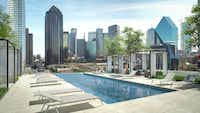 "<p>The<span style=""font-size: 1em; background-color: transparent;""> Residences at Park District tower has a rooftop swimming pool.</span></p>(High Street Residential)"