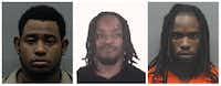 From left: Cederrick Clarkson, Demarcus Davis, Kentrell Davis.(Smith County Sheriff's Office, Tarrant County Sheriff's Office)
