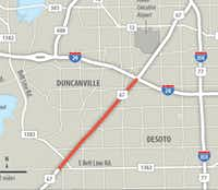 This stretch of U.S. Highway 67 that begins in Cedar Hill and ends at Interstate 20 will be widened from four lanes to six over the next two years.(TxDOT)