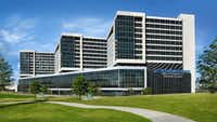 A rendering of the $480 million expansion of UT Southwestern's flagship William P. Clements Jr. University Hospital.(UT Southwestern)