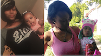 Dayazia Moore, left, is with baby Zarielle Moore. Both were last seen Tuesday evening at a DART station in east Oak Cliff. (Dallas Police Department)