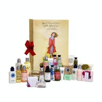 L'Occitane's beauty advent calendar is filled with 24 beauty and body products.(L'Occitane)