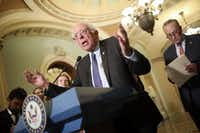 """Sen. Bernie Sanders has called the GOP's tax framework """"morally repugnant and bad economic policy.""""(Win McNamee/Getty Images)"""