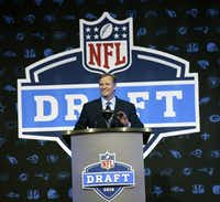 In this 2016 file photo, NFL Commissioner Roger Goodell opens the NFL football draft in Chicago.(Matt Marton/AP)