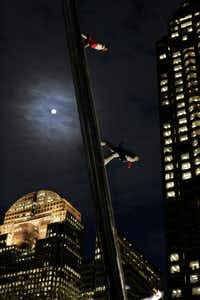 <i>Walking to the Sky</i>&nbsp;at night in 2005(Jim Mahoney/Staff photographer)
