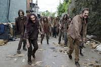 Walkers in AMC's hit zombie show <i>The Walking Dead</i>.&nbsp;(Gene Page/AMC)