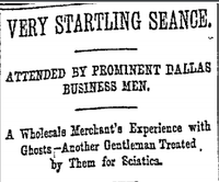 1892(The Dallas Morning News archives)