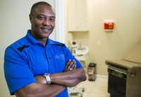 Anthony Graves poses for a portrait inside the Graves Community Health Clinic in Houston. Graves was convicted of a murder he didn't commit and spent nearly two decades in prison before he was cleared of all charges.(Ashley Landis/2016 File Photo)