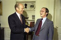 Dallas PR executive Andy Stern, as a staff assistant in the Oval Office with with President Gerald Ford. (Ricardo Thomas)