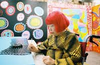 Yayoi Kusama, at a new museum in Tokyo bearing her name, Sept. 26, 2017(Motohiko Hasui/The New York Times)