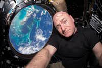 On July 12, 2015, Scott Kelly took a selfie inside the Cupola, a special module of the International Space Station that provides a 360-degree viewing of the Earth and the station.(Scott Kelly)