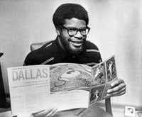 Boston College running back Bill Thomas reads up on the Super Bowl champion Dallas Cowboys -- including their brand-new home of Texas Stadium -- after becoming the team's first-round selection in the NFL draft on Feb. 2, 1972. Thomas would appear in just 27 games over a three-year career with Dallas, Houston and Kansas City.(1972 File Photo/The Associated Press)