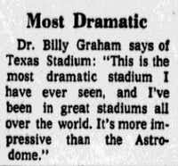 """<p><span style=""""font-size: 1em; background-color: transparent;"""">From the Oct. 24, 1971 edition of<i>The Dallas Morning News,</i>the day of the first game at Texas Stadium.</span><br></p><p></p>"""