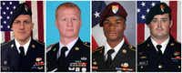 From left: Staff Sgt. Bryan C. Black, Staff Sgt. Jeremiah Johnson, Sgt. La David Johnson and Staff Sgt. Dustin Wright were killed in an ambush in Niger this month.(U.S. Army)