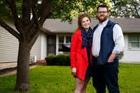 Kylie Kagen and her fiance, Mike Cammon, had to buy flood insurance for their new home.(Nathan Hunsinger/Staff Photographer)