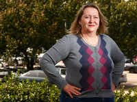 Lisa Rainey wonders whether to buy flood insurance.(Nathan Hunsinger/Staff Photographer)