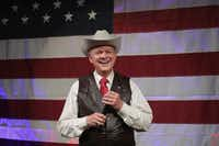 Senate candidate Roy Moore spoke at a rally last month in Fairhope, Ala.(Scott Olson/Getty Images)