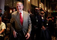 Roy Moore greeted supporters before his Senate election party in Montgomery, Ala. President Donald Trump's former chief strategist Steve Bannon is boosting multiple challengers to GOP incumbents and the party's preferred candidates in next year's midterm elections.(Brynn Anderson/AP)